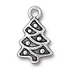 christmas tree charm ANTIQUE SILVER