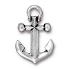 Anchor Drop Pendant LARGE ANT SILVER