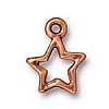 open star charm ANTIQUE COPPER