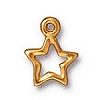 open star charm ANTIQUE GOLD