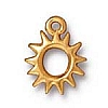 radiant sun charm ANTIQUE GOLD