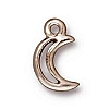 crescent moon charm ANTIQUE SILVER