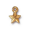 faceted star charm ANTIQUE GOLD