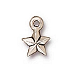 faceted star charm ANTIQUE SILVER