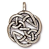 open knot pendant charm ANTIQUE SILVER