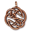 open knot pendant charm ANTIQUE COPPER