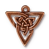 open triangle pendant charm ANTIQUE COPPER