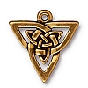 open triangle pendant charm ANTIQUE GOLD