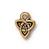 celtic triad charm ANTIQUE GOLD
