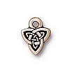 celtic triad charm ANTIQUE SILVER
