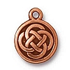 celtic round charm ANTIQUE COPPER