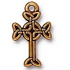 medium celtic cross charm ANTIQUE GOLD