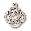 open round pendant charm ANTIQUE SILVER