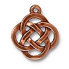 open round pendant charm ANTIQUE COPPER