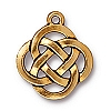 open round pendant charm ANTIQUE GOLD