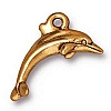 dolphin charm ANTIQUE GOLD