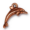 dolphin charm ANTIQUE COPPER