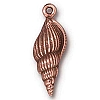 large spindle shell charm ANTIQUE COPPER