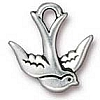 swallow charm ANTIQUE SILVER