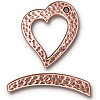 hammertone heart toggle ANTIQUE COPPER tone