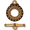 bali toggle ANTIQUE GOLD tone