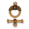 celtic toggle ANTIQUE GOLD tone