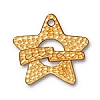 hammerstone star toggle ANTIQUE GOLD tone
