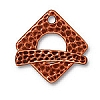 hammertone square toggle ANTIQUE COPPER tone