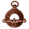 clasp set clock and bar ANT. COPPER