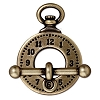 clasp set clock and bar  BRASS OXIDE