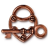 clasp set lock and key ANT. COPPER