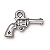 six shooter charm ANTIQUE SILVER