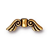 small angel wings bead ANTIQUE GOLD tone