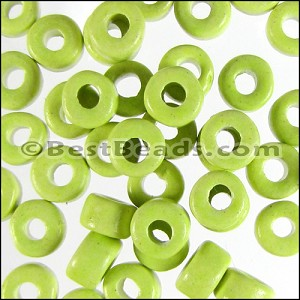 ceramic bead  per 1000 pieces NEON YELLOW