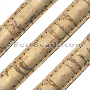 Stitched Mini Regaliz® CORK NATURAL - per 10m SPOOL