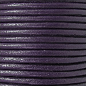 3mm round Euro leather PURPLE - per 25m SPOOL