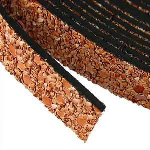 10mm flat GLITTER leather SAND - per 5 meters