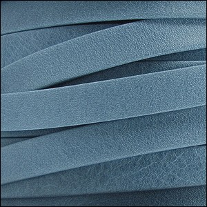 5mm flat ARIZONA leather FADED DENIM - per 20m SPOOL