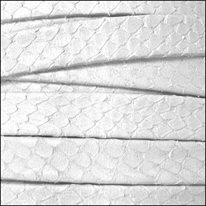 10mm flat EGYPTIAN STYLE leather OFF WHITE - per 2 meters