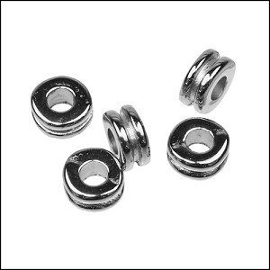 double washer bead for 2.5mm cord - per 1000 pieces
