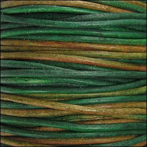 2mm round Indian leather - berol natural dye - per 25m SPOOL