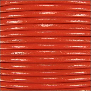 1mm round Indian leather - burnt orange - per 25m SPOOL