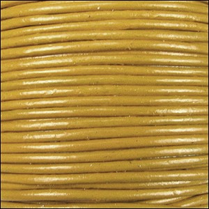 1.5mm round Indian leather - yellow - per 25m SPOOL