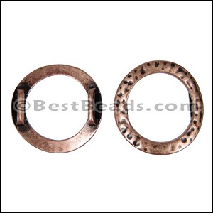 10mm flat HAMMERED RING spacer ANT COPPER - per 10 pieces