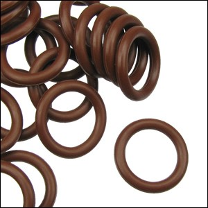 10mm rubber o-rings per 10 pieces CHOCOLATE