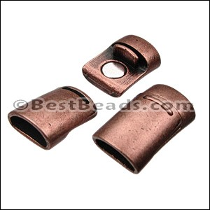 Mini Regaliz® PLAIN magnetic clasp ANT COPPER - per 10 pieces