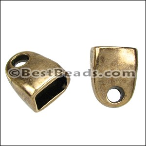Regaliz® STRAIGHT END clasp ANT. BRASS - per 10 pieces