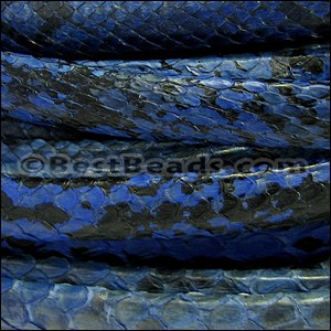 Mini Regaliz® PYTHON leather DENIM - per 10m SPOOL