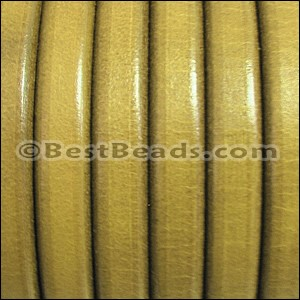 Regaliz® Leather Oval MATTE LT OLIVE - per 1 meter