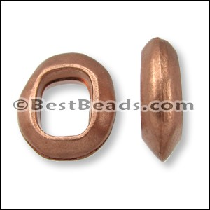 Regaliz® OVAL RING spacer ANT. COPPER - per 10 pieces